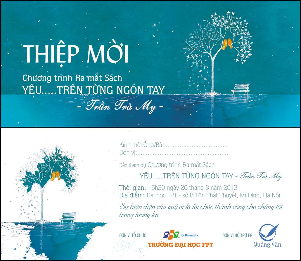 In thiệp mời chương trình ra mắt tại Hà Nội