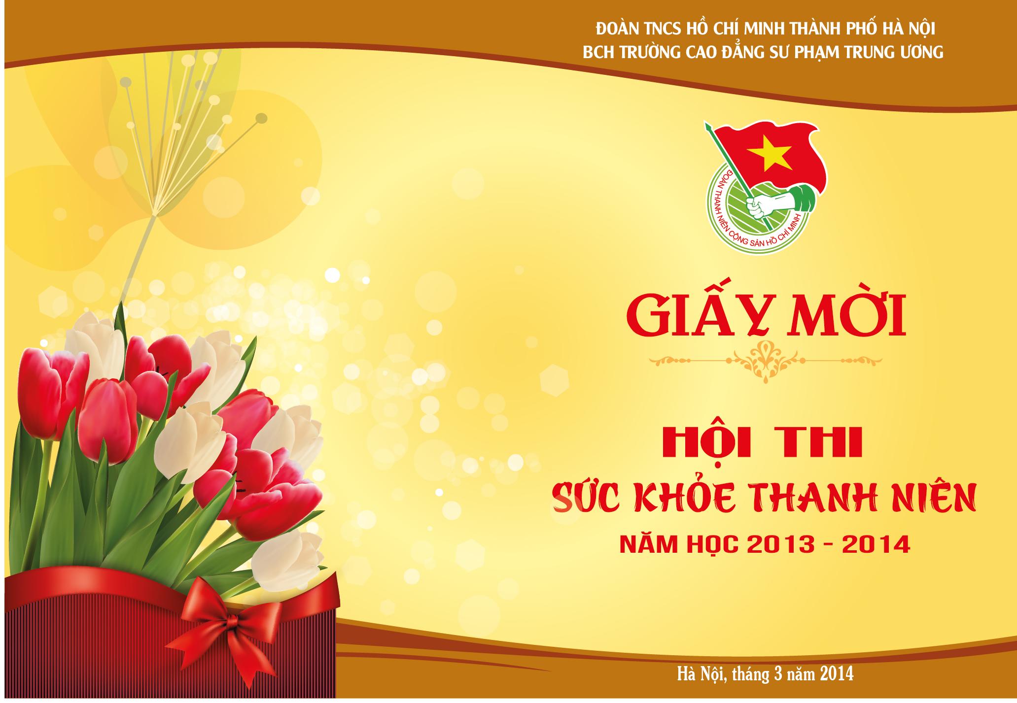 Mẫu giấy mời hôi thi sức khỏe ở Hà Nội