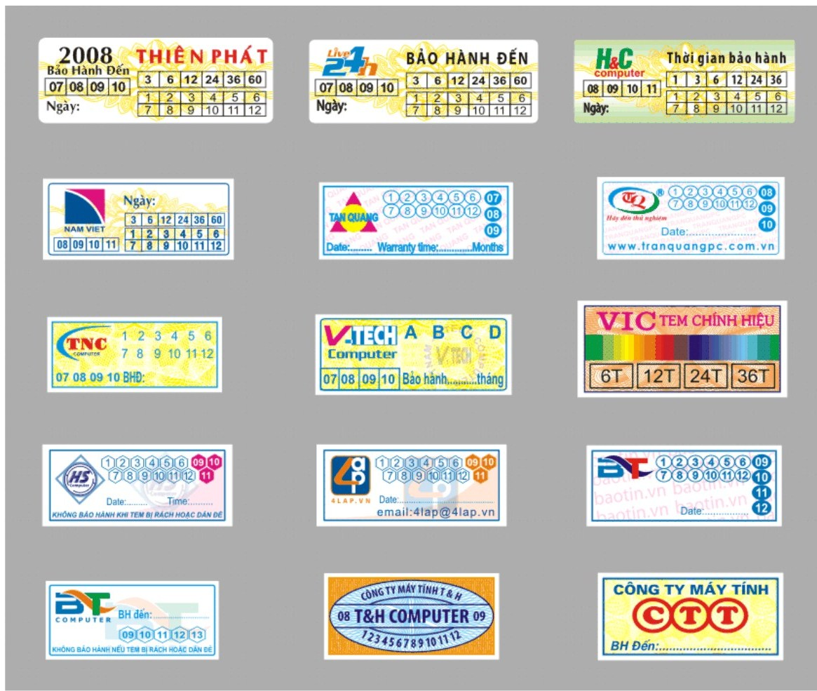 Cơ sở in tem vỡ in tem bảo hành giá rẻ lấy nhanh