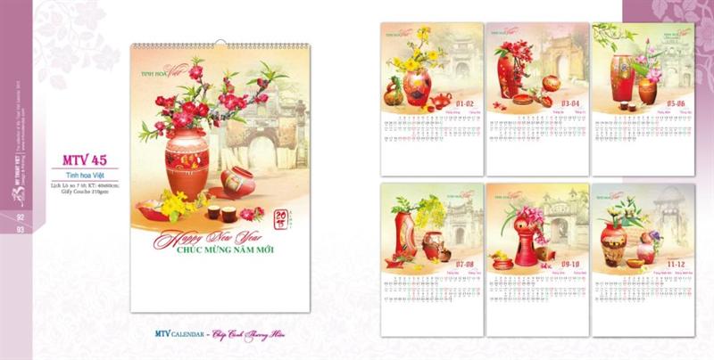 In lịch theo phôi có sẵn giá rẻ nhất Hà Nội - 0902254648