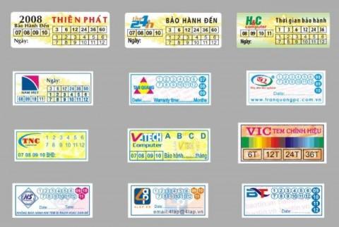 In tem bảo hành lấy nhanh