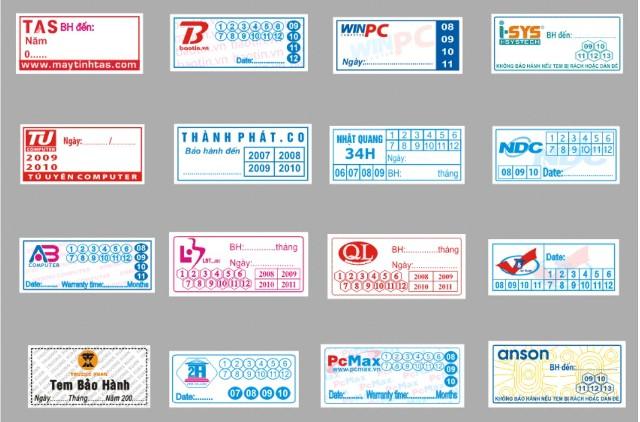 In tem bảo hành rẻ