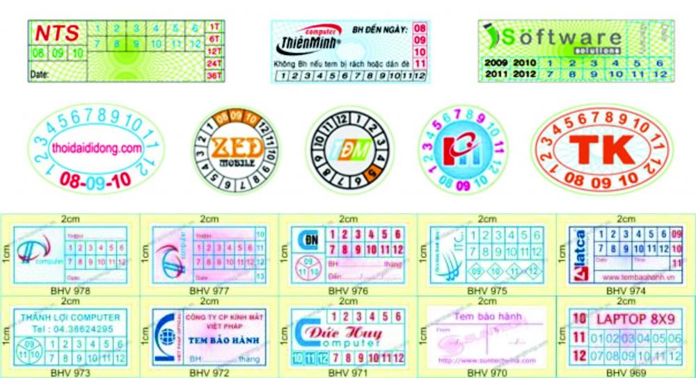 In tem vỡ bảo hành giá rẻ tại Láng Hạ, Kim Liên, Đống Đa, Thái Hà, Thái Thịnh