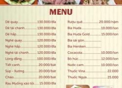Cơ sở chuyên in menu nhà hàng giá rẻ nhất Hà Nội