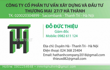 Địa chỉ in card visit giá rẻ lấy nhanh tại Hà Đông